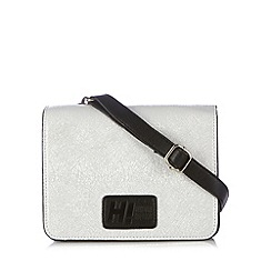 H! by Henry Holland - Designer silver metallic cross body bag