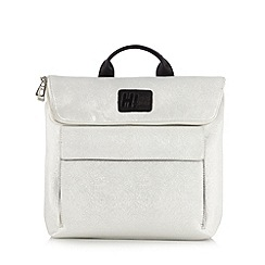 H! by Henry Holland - Designer silver metallic backpack