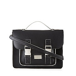 H! by Henry Holland - Designer black contrast trim satchel