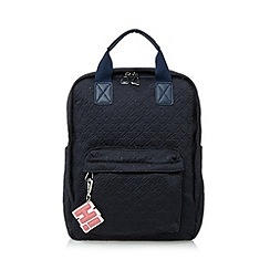 H! by Henry Holland - Designer navy quilted backpack