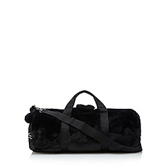 H! by Henry Holland - Designer black fuzzy animal holdall