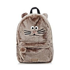 H! by Henry Holland - Designer natural fuzzy animal backpack