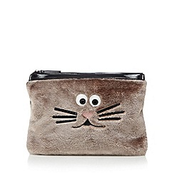 H! by Henry Holland - Designer natural fuzzy animal clutch bag