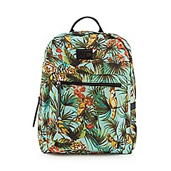 H! by Henry Holland - Designer green tropical print backpack