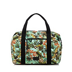 H! by Henry Holland - Designer green parrot print weekender bag