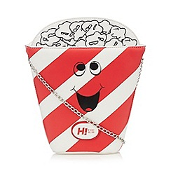 H! by Henry Holland - Designer red novelty popcorn cross body bag