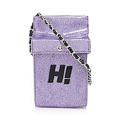 H! by Henry Holland - Designer pink glitter milk carton cross body bag