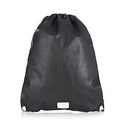 H! by Henry Holland - Designer black perforated gym bag