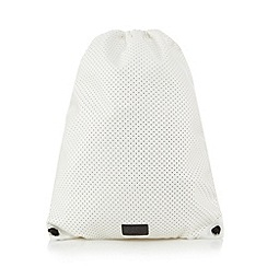 H! by Henry Holland - Designer white Airtex gym bag