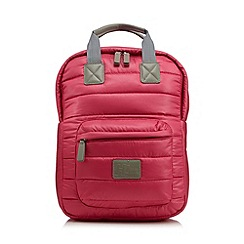 H! by Henry Holland - Designer pink quilted nylon backpack