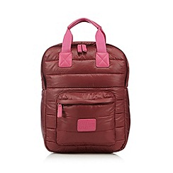 H! by Henry Holland - Designer maroon quilted nylon backpack