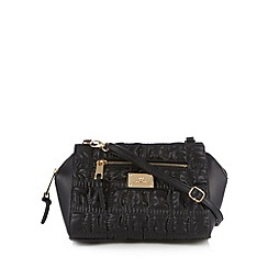 Red Herring - Black ruched winged cross body bag
