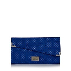 Red Herring - Blue metallic spotted clutch bag