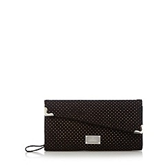Red Herring - Black metallic spotted clutch bag