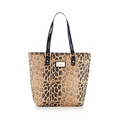 Red Herring - Natural glitter animal print tote bag