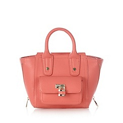 Red Herring - Coral padlock zip grab bag