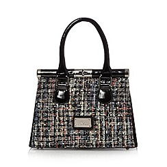Red Herring - Black sequin tweed grab bag