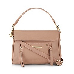Red Herring - Light pink zip front shoulder bag