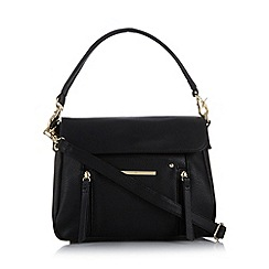 Red Herring - Black zip front shoulder bag