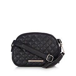 Red Herring - Black quilted cross body bag