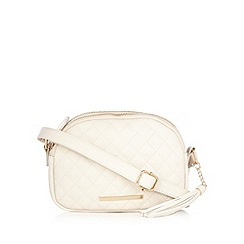 Red Herring - Cream quilted cross body bag