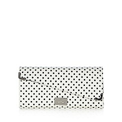 Red Herring - White spotted asymmetric clutch bag