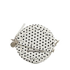 Red Herring - White spotted round cross body bag