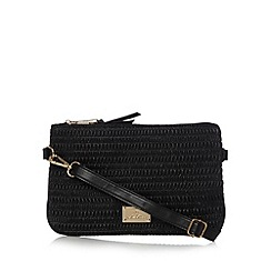 Red Herring - Black ruched cross body bag