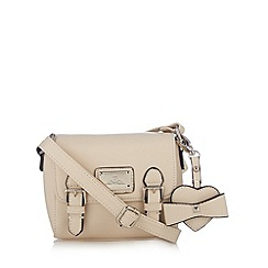 Red Herring - Cream bow charm mini cross body bag