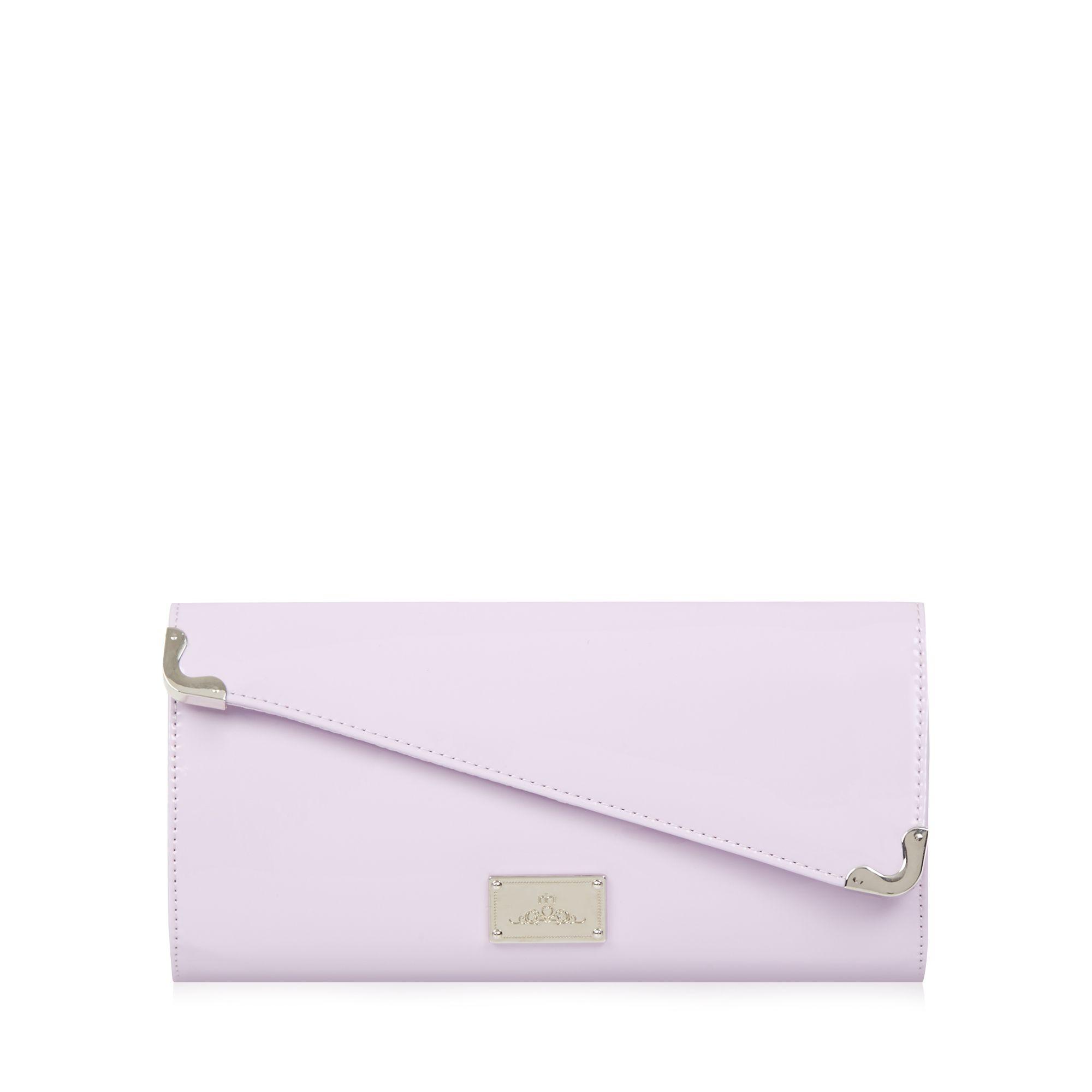 Red Herring Womens Lilac Patent Asymmetric Clutch Bag From Debenhams | EBay