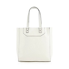 Red Herring - White large tipped shopper bag