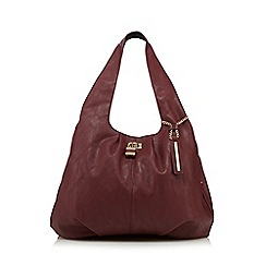 Red Herring - Wine padlock front hobo bag