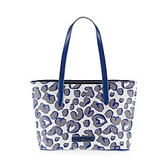 Red Herring - Blue leopard print shopper bag