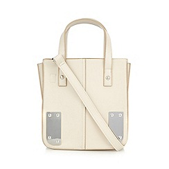 Red Herring - Cream structured metal corner grab bag