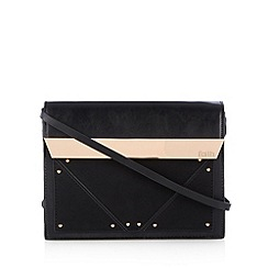 Faith - Black metal bar cross body bag