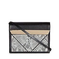 Faith - Pale grey metal bar cross body bag