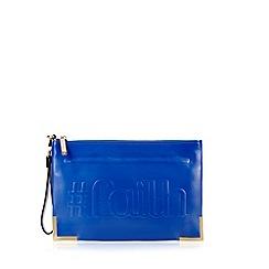 Faith - Bright blue '#Faith' clutch bag
