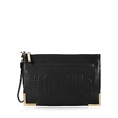Faith - Black '#Faith' clutch bag