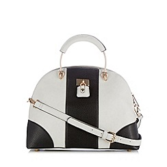 Faith - Grey colour block panel kettle bag
