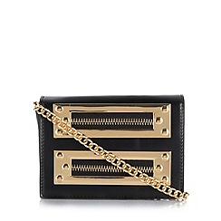Faith - Black metal zip front cross body