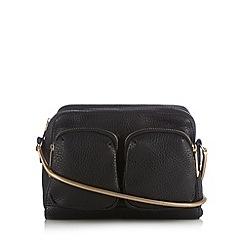 Faith - Black textured slinky strap cross body bag