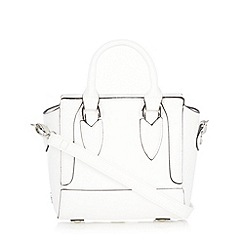 Faith - White mini winged cross body bag
