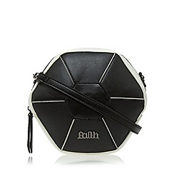 Faith - Black hexagon cross body bag