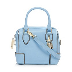 Faith - Light blue padlock detail mini cross body bag