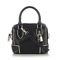 Faith - Black micro padlock cross body bag