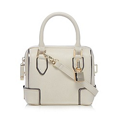 Faith - Cream padlock detail mini cross body bag
