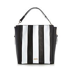 Faith - Black wide striped shoulder bag