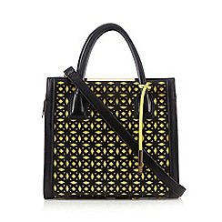 Faith - Black laser cutout tote bag