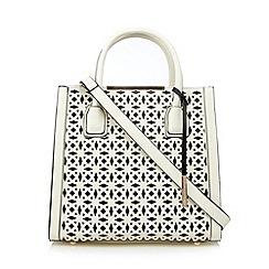 Faith - White laser cutout tote bag