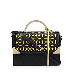 Faith - Black laser cutout shoulder bag